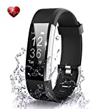 Adlynlife ID117 Plus Bluetooth Smart Fitness Band Watch for Men/Women with Heart Rate Activity Tracker Waterproof Body   Steps and Calorie Counter, Blood Pressure, Distance Measure, OLED Touch Screen