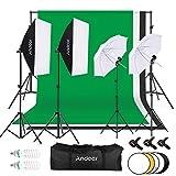 Andoer Studio Fotografico Kit di Illuminazione, 1.8mx 2.8m/6x 9ft con...