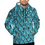 Unisex Realistic 3D Print Hoodie Mermaid Tail Hooded Sweatshirts