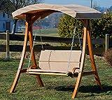 ASS Design Hollywoodschaukel Gartenschaukel Hollywood Schaukel aus Holz - 6