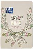 Oxford Agenda scolaire 2020/2021 Boho Chic Enjoy life 12 x 18 relié 176...