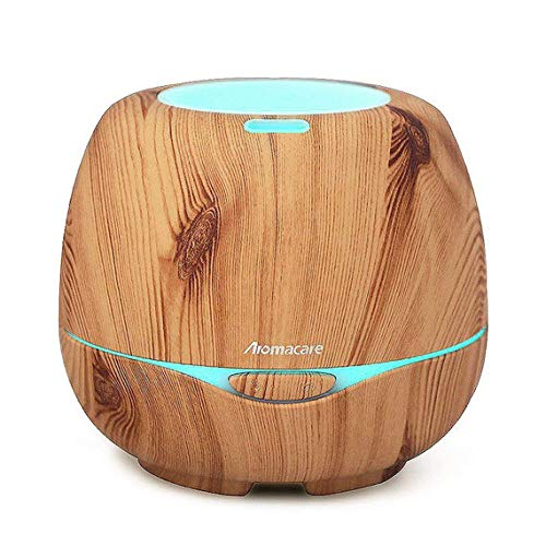 Aromacare 300ml Essential Oil Diffusers with Color Changing LED Lights, Wood Grain Diffusers for Essential Oils, Cool Gift for Women