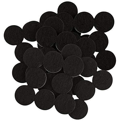 softtouch 4799095N Heavy Duty 1 Inch Felt Furniture Pads to Protect Hardwood Floors from Scratches, Black, 48 Piece