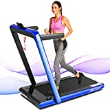 ANCHEER Treadmills for Home,2 in 1 Folding Treadmill Machine with Remote Control and Bluetooth Speaker, New Levels Under Desk Electric Treadmill for Home 265 lbs Weight Capacity