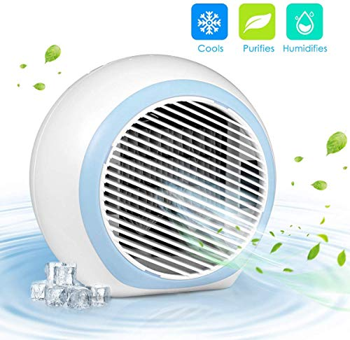 W-Dragon Personal Air Conditioner, Air Personal Space Cooler with Humidifier and Air Purifier USB Mini Portable Air Conditioner
