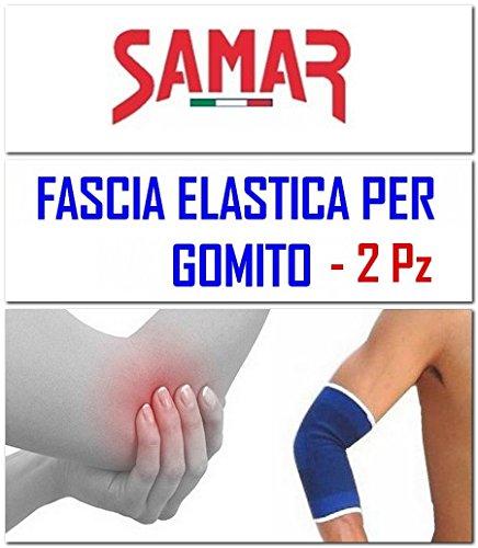 Fascia Elastica Gomito 2 Pezzi Gomitiera Tutore Supporto per Sport Tennis Palestra Lavoro