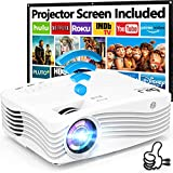 7500Lumens Upgraded Native 1080P Projector, Full HD WiFi Projector Synchronize Smartphone...