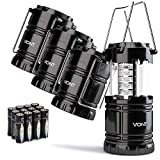 Bright & Lasting: Equipped with 30 crazy bright leds, this compact lantern cuts through 360 degrees of darkness on the stormiest, dimmest nights. Easily lights up the entire tent or room. Compact & Lightweight: Collapsible design that reduces or incr...