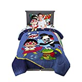Franco Kids Bedding Super Soft Comforter with Sheets and Plush Cuddle Pillow Set, 5 Piece Twin Size, Ryan's World