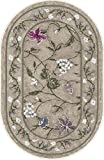 Brumlow MILLS Butterfly Floral Area Rug for Kitchen, Living Room or Home Accent Carpet, 20'x34', Opal
