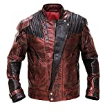 Mens Distressed Red Maroon Leather Jacket - Armored Motorcycle Jacket