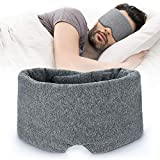 100% Handmade Cotton Sleep Mask Blackout - Comfortable & Breathable Eye Mask for Sleeping Adjustable Blinder Blindfold Airplane with Travel Pouch - Best Night Companion Eyeshade for Women Men Kid