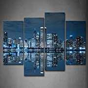 Size:12x26inchx2panel, 12x35inchx2panel, all 4 panels. Giclee artwork, picture photo printed on high quality canvas. Gallery wrapped and stretched over 0.75 '' wood frame. Ready to hang on the wall, each panel has a black hook mounted on back. Each p...