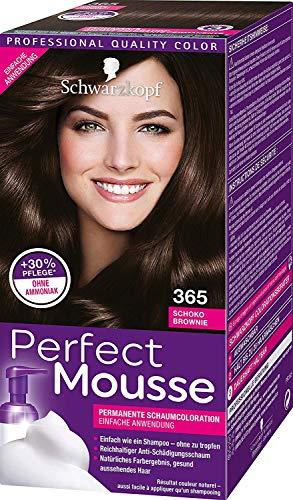 Schwarzkopf Perfect Mousse - Coloración para el cabello en espuma, color chocolate brownie 365