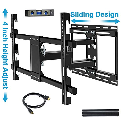 BLUE STONE Tilt TV Wall Mount Bracket for Most 32-83 Inch TVs, Full Motion Swivel Articulating Arm Mounting, Up to 99lbs, Low Profile, LED OLED Flat Screen Curved TV, Sliding & Hight Adjustment Design