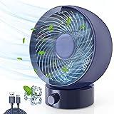 Ventilateur USB, Gifort Ventilateur de Table Mini Ventilateur Ventilateur Silencieux 180 Types de Vitesse du Vent, pour Bureau d'été Camping Voyage Portable,...