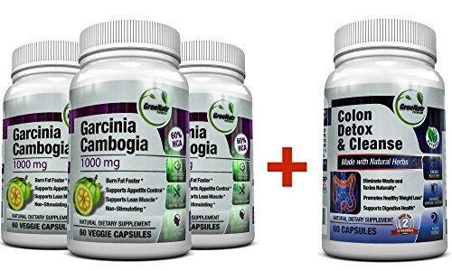 Colon Cleanser Detox for Weight Loss & Garcinia Cambogia Extract 1000mg Bundle - 14 Day Diet Pills, Metabolism Booster, Carb Blocker, Fat Burner & Appetite Suppressant for Men & Women 1