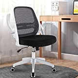 Office Chair, KERDOM Ergonomic Desk Chair, Breathable Mesh Computer Chair, Comfy Swivel Task Chair with Flip-up Armrests and Adjustable Height