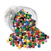 Learning Resources LER2089 1-Zentimeter-Würfel (Set mit 1000Stück)