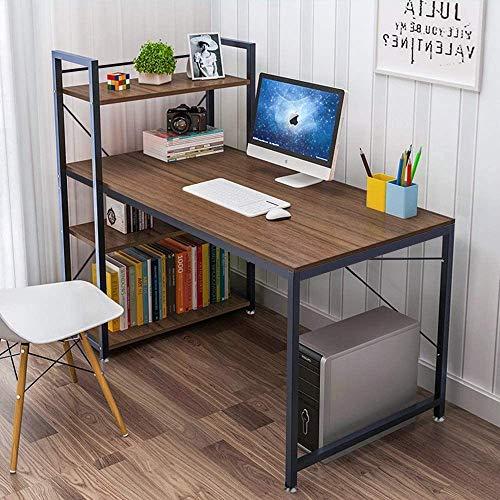 Dripex Holz Schreibtisch Computertisch 120x60x120cm PC-Tisch Bürotisch Officetisch Stabile Konstruktion Tisch für Home Office Schule (Braun)