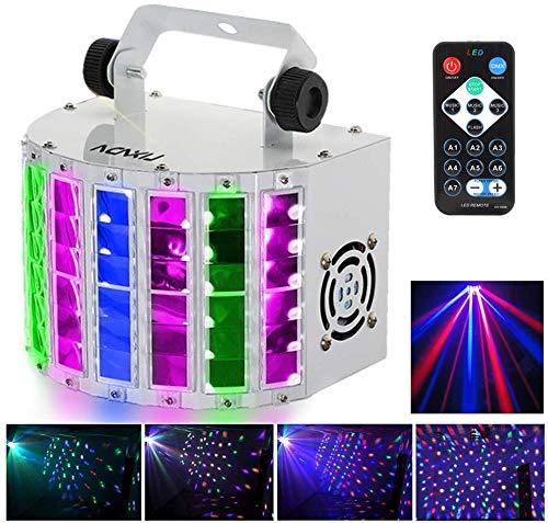 Luci Discoteca,Lixada Fari per Illuminazione Palco 24W RGBW Effetti LED DMX 512 a 7 Canali ad...