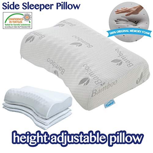 COMFYT Side Sleeper Pillow - Height Adjustable