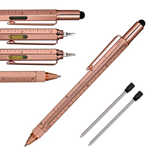 Multi Function Engineer Pen Business Gift for men, 5 in 1...