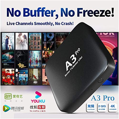A3 Pro 2020 200+ Live Channels from Mainland/Hong Kong/Macao/Taiwan/Vietnam, 7 Days Playback.100K+ Cantonese and Mandarin Movies/Dramas,