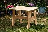 Larisa Stabil Gartentisch; unbehandeltem Erle Holz. 6 Bretter - 2