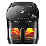 Kyvol Air Fryer, Halogen Heating Ceramic Coated Digital Airfryer Healthy Oilless Cooker 6 Quart Large XL with 60 Recipes, AF60