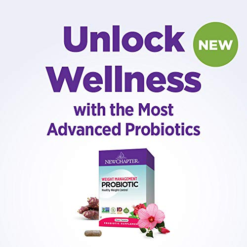 New Chapter Weight Management Probiotic, 60ct (2 Month Supply), Probiotics for Men & Women with Prebiotics and Probiotics + 100% Vegan + Soy Free + Non-GMO 2