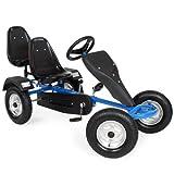 TecTake Kart à Pédales Go-Kart à 2 Places - diverses couleurs au choix (Bleu)