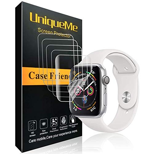 UniqueMe [5 Pezzi] Pellicola Protettiva per Apple Watch 40mm Series 5/4 Pellicola, [Bubble-Free] HD Clear TPU Film Flessibile con Garanzia di Sostituzione a Vita