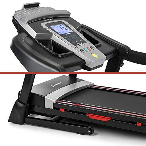 Capital Sports Pacemaker F80 - Tapis Roulant, Display LCD, Motore da 3 PS, 1-14 km/h, 9 Programmi, Superficie: 40 x 120 cm (LXL), Sospensioni 4P-AntiShock, Cardiofrequenzimetro, Rotelle