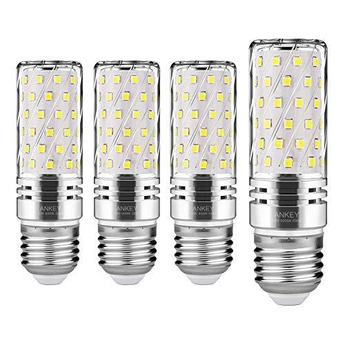 Lampadine LED di mais, E27 candelabro a LED da 15 W, 120W equivalenti a incandescenza, Bianca Freddo 6000K 1500LM, CRI75+, non dimmerabile,Edison Lampadine Mais-4 pezzi