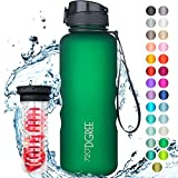 720°DGREE Water Bottle uberBottle 1.5 Liter, 50oz | Sports Bottles - Tritan Plastic - BPA Free | Ideal Drinking for School, Fitness, Outdoor, Camping | Simple 1-Click Opening | Green