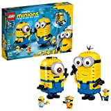 LEGO Minions: Brick-Built Minions and Their Lair (75551) Building Kit for Kids, Great Birthday Present for Kids Who Love Minion Toys and Kevin, Bob and Stuart Minion Characters (876 Pieces)