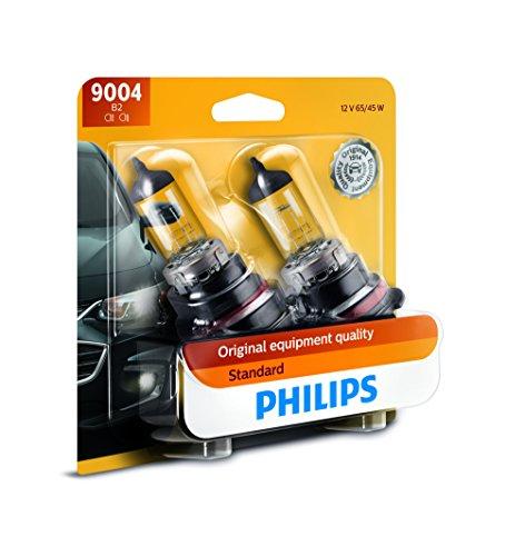 Philips 9004 Standard Halogen Replacement Headlight Bulb, 2 Pack