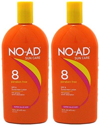 NO-AD Protective Tanning Lotion, SPF 8, 16 fl oz -...