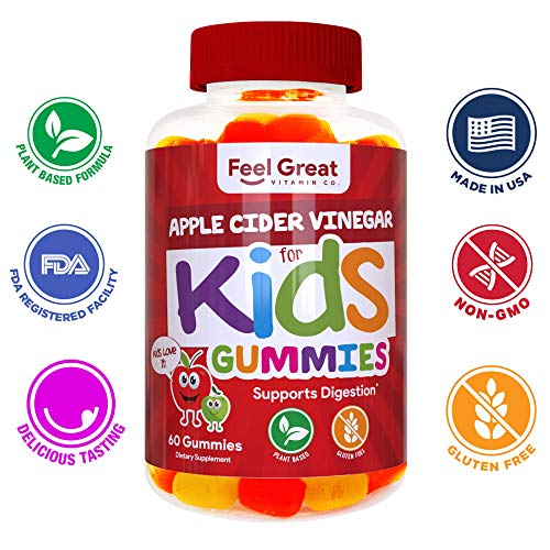 Feel Great Vitamin Co. Apple Cider Vinegar Gummies for Kids | Digestive & Immunity Support* | Healthy Gut Support for Children* | Natural Digestive Enzymes & Digestive Support for Boys and Girls 7