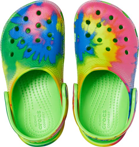 Crocs Kids' Classic Graphic Clog | Slip On Water Shoes for Boys and Girls