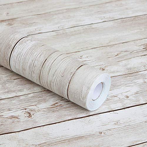 Carta autoadesiva in vinile, motivo legno grezzo, per piani di lavoro da cucina, armadietti,...
