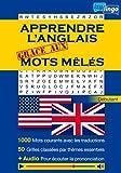 Apprendre l'anglais grâce aux mots mêlés: Mots Cachés- 1000 Mots Gros Caractères -...