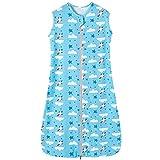 d'été bébé Gigoteuse fille garçon printemps pyjama mince nouveau-né - 0,5 tog (110CM/18-36 mois, Bleu nuage de fusée étoile)