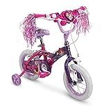 Huffy 12' Disney Princess Girls Bike with Training Wheels, Pink/Purple