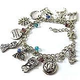 Frozen Charm Bracelet Jewelry - Anna Elsa Cosplay Costume Bracelets Merchandise Gift For Women