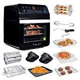 Yedi Total Package Air Fryer Oven XL, 12.7 Quart, Deluxe Accessory...