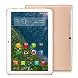 4G LTE Tablette Tactile 10 Pouces - TOSCIDO Android 9.0 Certifié par Google GMS,4Go RAM,64Go ROM,Octa Core 2GHz CPU Haute Vitesse,Doule Sim,WiFi,Double Haut-Parleur Stéréo- Oro