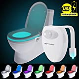 Lampe de toilette Veilleuse LED Detecteur de mouvement Eclairage WC / Salle de Bain /...