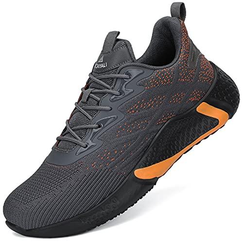 UCAYALI Zapatos de Seguridad Hombre Anti-Piercing Zapatos de Trabajo Punta de Acero Antideslizante Calzado Seguridad Deportivo Gris A Gr.43
